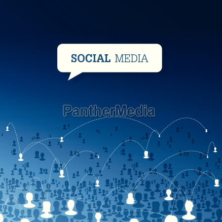 social communications concept vector