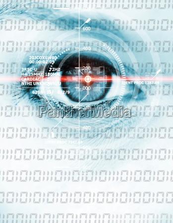 digital binary eye