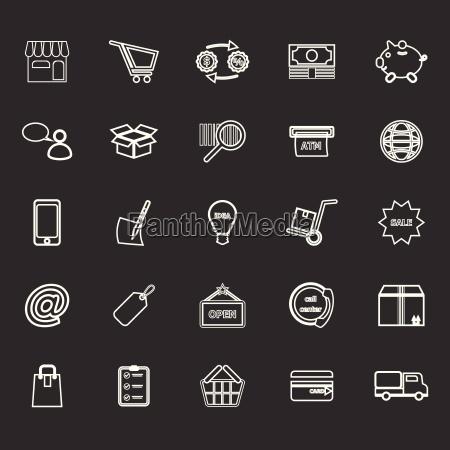 internet entrepreneur line icons