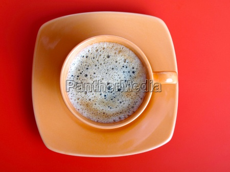 coffee cup on a red background