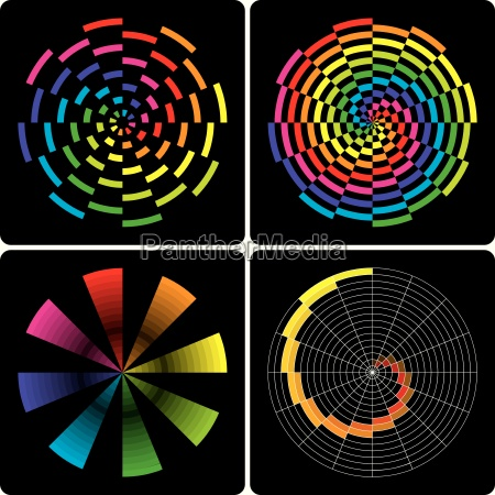 abstract colorful shapes vector