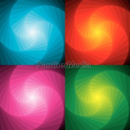 abstract swirl set vector
