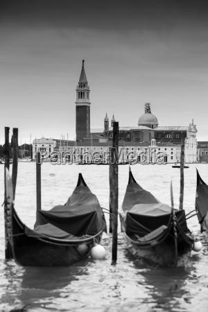 gondolas in front of chiesa di