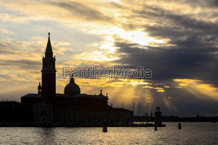 san giorgio maggiore church at sunset