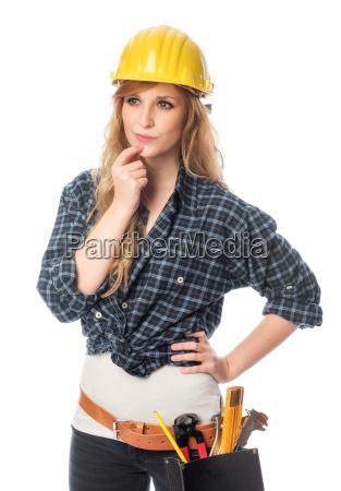 handwerker ueberlegt