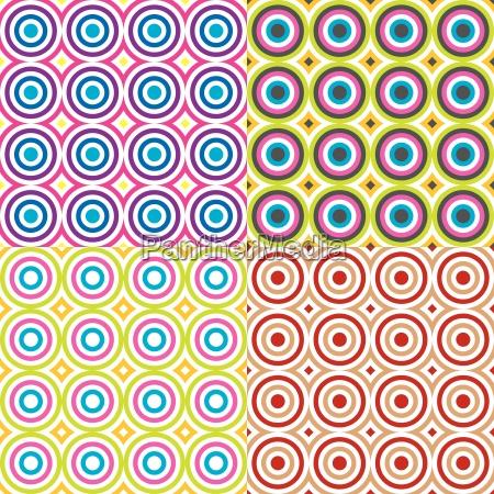 abstract circles pattern set vector