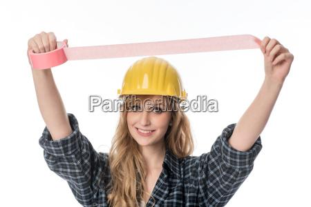 handwerker, mit, klebeband - 13385980