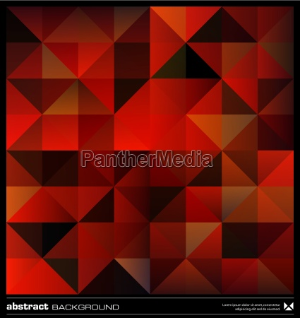 abstract red triangles background vector