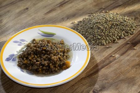 stewed lentils