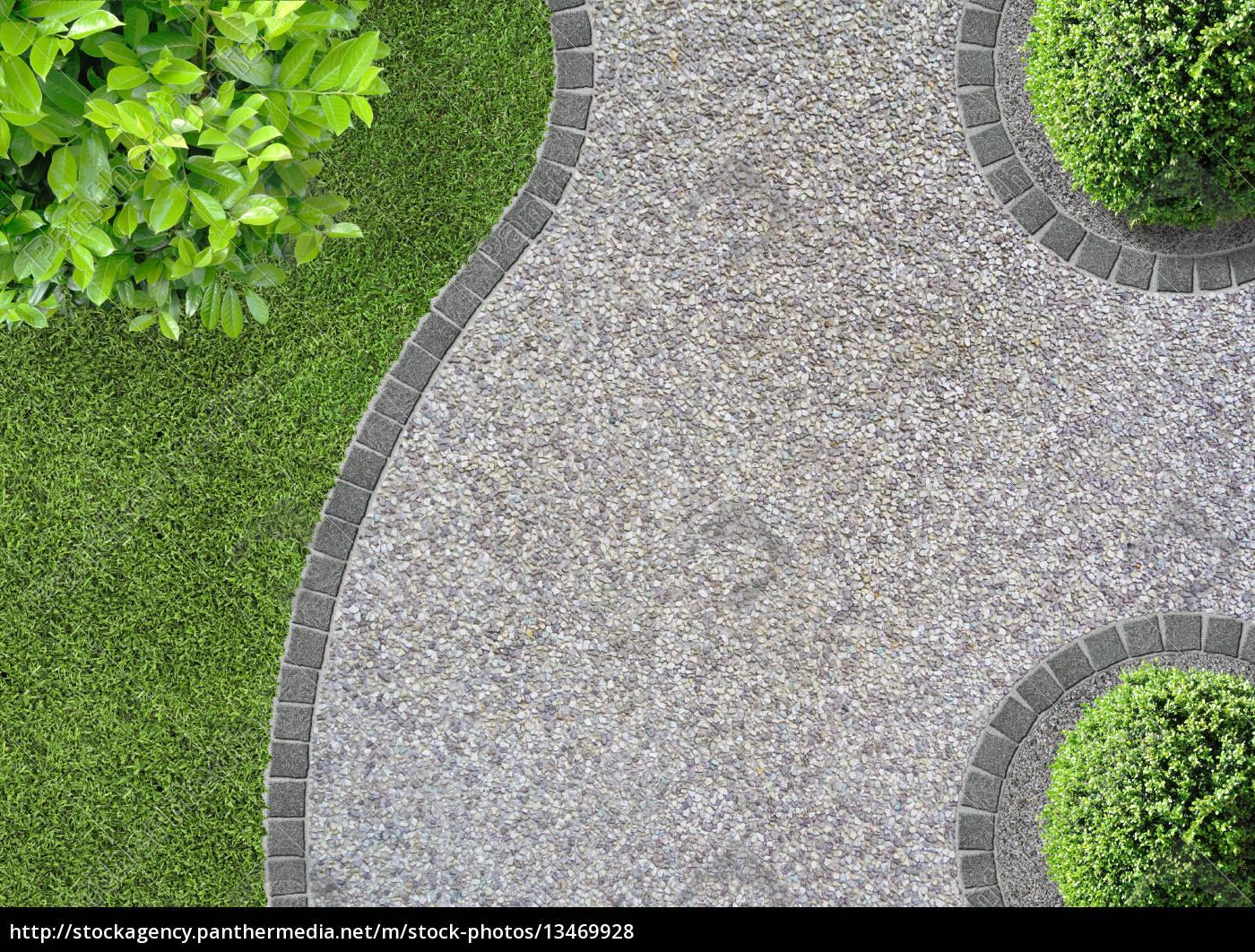 gartenwege anlegen – ideen für den kiesweg im garten – motelindio, Gartenarbeit ideen