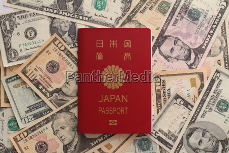 japanese passport and us dollar