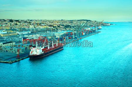lisbon commercial port portugal