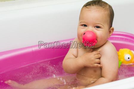 baby bathing fun