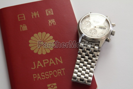 japanese passport and watch