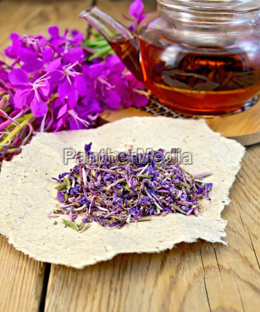 fireweed dry with teapot on board