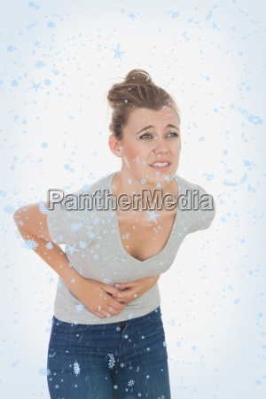composite image of woman suffering from