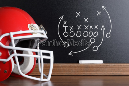football play strategy drawn out on