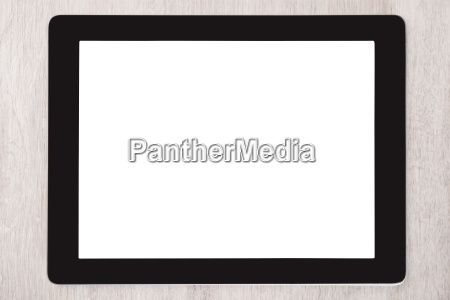 digital tablet with blank white screen