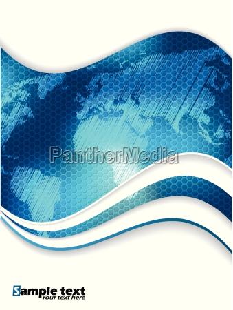 blue hexagon business brochure