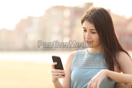 pretty girl using a mobile phone