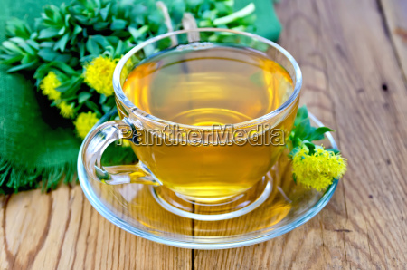 herbal tea in a cup with