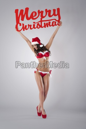 sexy santa wishing you merry christmas