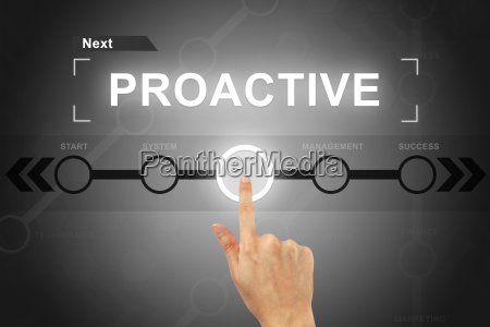 hand clicking proactive button on a