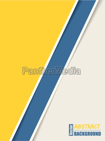 simple brochure with yellow blue and
