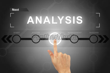 hand clicking analysis button on a