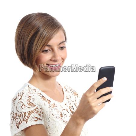 fashion woman using a smart mobile
