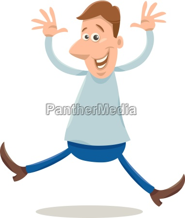excited man cartoon illustration