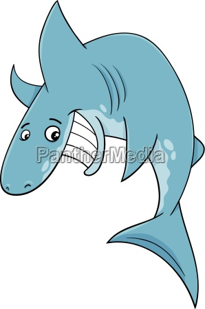 shark fish cartoon illustration