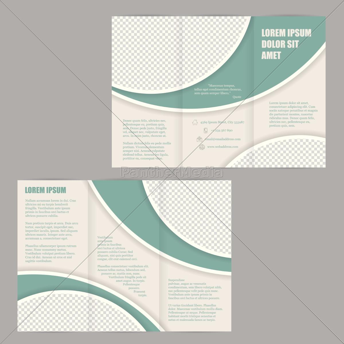 tri fold brosch re flyer design vorlage lizenzfreies bild 14240143 bildagentur panthermedia. Black Bedroom Furniture Sets. Home Design Ideas