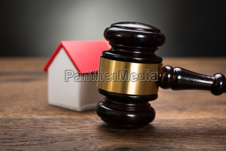 house model with gavel