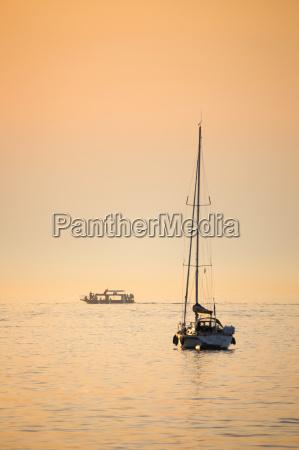 adriatic sea at sunset