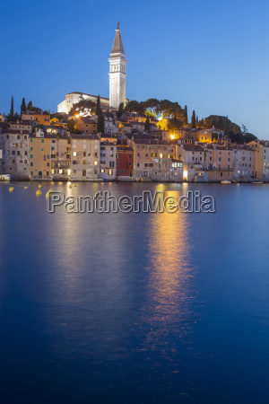 sunset in rovinj on adriatic coast