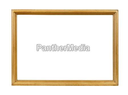 goldene dekorative leeren bilderrahmen
