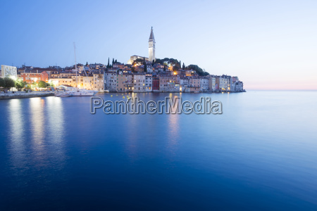 sunset in old town of rovinj