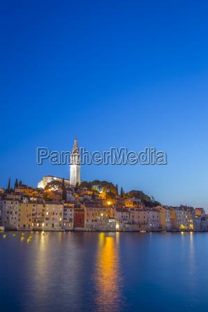 rovinj on adriatic coast at sunset