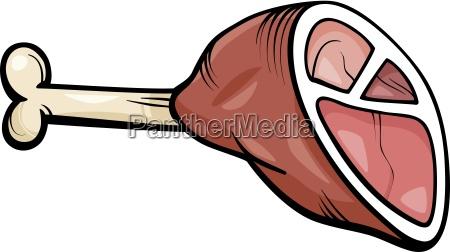 ham meat cartoon clip art