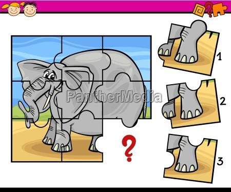 jigsaw preschool cartoon game