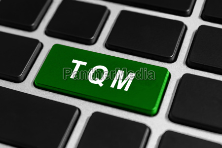 tqm or total quality management button