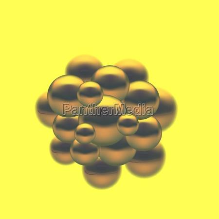 abstract molecules design set molecules spheres