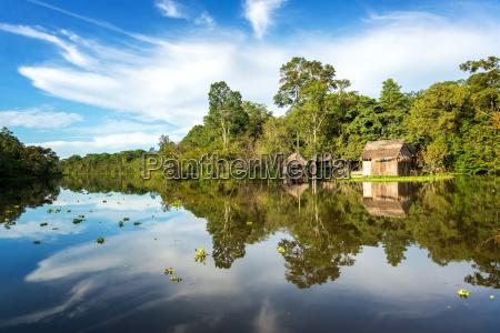 jungle shack and sky