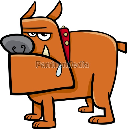 bull dog cartoon illustration