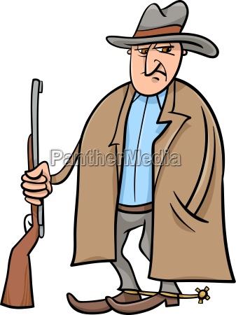 cowboy cartoon illustration