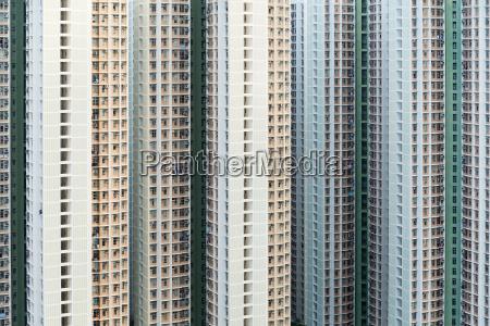 hign density residential building in hong