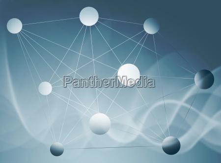 abstrakt netzwerk verbindung