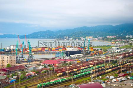 large industrial port batumi georgia