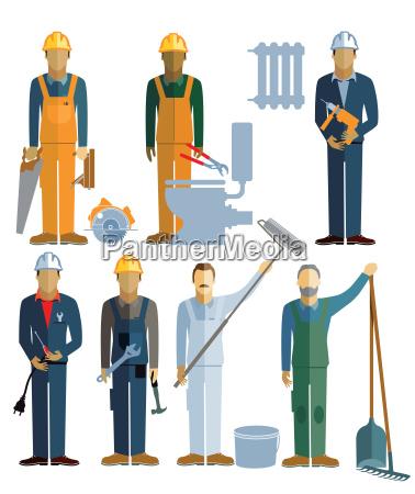 sieben handwerker